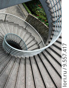 Купить «spiraling stair», фото № 9557417, снято 10 декабря 2019 г. (c) PantherMedia / Фотобанк Лори