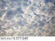 Купить «Перистые облака в вечернем небе», эксклюзивное фото № 9577649, снято 13 августа 2015 г. (c) Сергей Лаврентьев / Фотобанк Лори