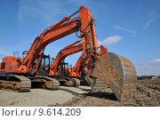 Купить «scoop construction site dredger baggern», фото № 9614209, снято 20 марта 2019 г. (c) PantherMedia / Фотобанк Лори