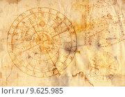 Купить «old grunge paper with horoscope signs», фото № 9625985, снято 17 января 2018 г. (c) PantherMedia / Фотобанк Лори