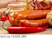 Купить «Polish sausage (Polska)», фото № 9655389, снято 16 августа 2018 г. (c) PantherMedia / Фотобанк Лори