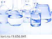 Купить «Blue chemistry vials, Laboratory», фото № 9656841, снято 18 февраля 2019 г. (c) PantherMedia / Фотобанк Лори