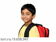 Купить «An handsome Indian kid getting ready for school», фото № 9658941, снято 15 октября 2019 г. (c) PantherMedia / Фотобанк Лори