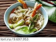 Купить «noodle shellfish soup», фото № 9697953, снято 22 июля 2019 г. (c) PantherMedia / Фотобанк Лори