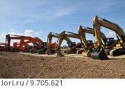 Купить «construction site dredger baggern baggerschaufel», фото № 9705621, снято 20 марта 2019 г. (c) PantherMedia / Фотобанк Лори
