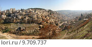 Купить «Panoramic view small palestinian village on hills in Western Jerusalem, Israel.», фото № 9709737, снято 26 июня 2019 г. (c) PantherMedia / Фотобанк Лори