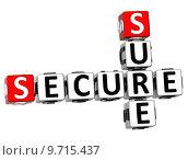 Купить «3D Secure Sure Crossword», фото № 9715437, снято 20 сентября 2019 г. (c) PantherMedia / Фотобанк Лори