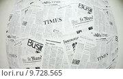 Купить «Газетный фон, иностранная всемирно известные таблоиды, пресса», видеоролик № 9728565, снято 21 июня 2015 г. (c) Кекяляйнен Андрей / Фотобанк Лори