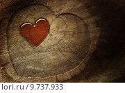 Купить «Love text on  wooden background», фото № 9737933, снято 22 марта 2019 г. (c) PantherMedia / Фотобанк Лори