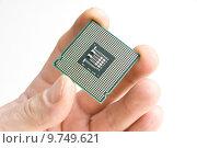 Купить «Processor in the hand», фото № 9749621, снято 10 июля 2020 г. (c) PantherMedia / Фотобанк Лори