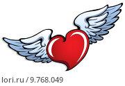 Купить «Stylized heart with wings 1», иллюстрация № 9768049 (c) PantherMedia / Фотобанк Лори