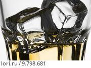 Купить «Macro Shoot of Whiskey in Glass with Ice », фото № 9798681, снято 27 марта 2019 г. (c) PantherMedia / Фотобанк Лори