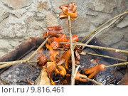 Купить «outdoor grilling sausages», фото № 9816461, снято 18 июня 2019 г. (c) PantherMedia / Фотобанк Лори