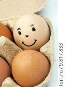 Купить «a happy egg», фото № 9817833, снято 22 марта 2019 г. (c) PantherMedia / Фотобанк Лори