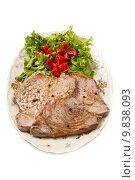 tuna filet with salad. Стоковое фото, фотограф Luca Santilli / PantherMedia / Фотобанк Лори
