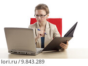 Купить «looking view office businesswoman look», фото № 9843289, снято 16 декабря 2017 г. (c) PantherMedia / Фотобанк Лори
