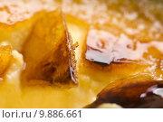 Купить «French dessert - cream brulee, burnt cream », фото № 9886661, снято 18 июня 2019 г. (c) PantherMedia / Фотобанк Лори