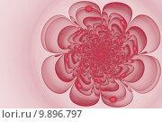 Абстрактный фрактальный цветок. Стоковая иллюстрация, иллюстратор Юлия Нигматуллина / Фотобанк Лори