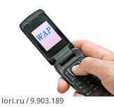Купить «Mobile phone with », фото № 9903189, снято 17 июля 2019 г. (c) PantherMedia / Фотобанк Лори
