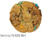 Купить «color chocolate chip cookie isolated on white», фото № 9920461, снято 18 июня 2019 г. (c) PantherMedia / Фотобанк Лори