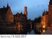 Купить «Bruges Rozenhoedkaai Night Scene», фото № 9920857, снято 24 января 2019 г. (c) PantherMedia / Фотобанк Лори