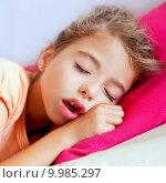Купить «Deep sleeping children girl closeup portrait», фото № 9985297, снято 19 октября 2019 г. (c) PantherMedia / Фотобанк Лори