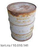 Купить «Steel drum barrel for fuel isolated over white», фото № 10010141, снято 7 августа 2020 г. (c) PantherMedia / Фотобанк Лори