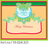 Купить «Christmas Framework style card», иллюстрация № 10024321 (c) PantherMedia / Фотобанк Лори