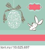 Купить «Tribal egg and Easter bunny background », иллюстрация № 10025697 (c) PantherMedia / Фотобанк Лори