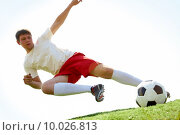 Flying kick. Стоковое фото, фотограф Dmitriy Shironosov / PantherMedia / Фотобанк Лори