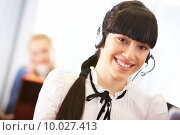 Friendly operator. Стоковое фото, фотограф Dmitriy Shironosov / PantherMedia / Фотобанк Лори