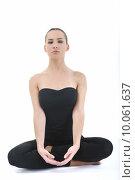 Купить «woman yoga », фото № 10061637, снято 20 января 2019 г. (c) PantherMedia / Фотобанк Лори