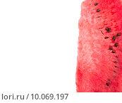 Ломтики арбуза на белом фоне. Изолировано. Стоковое фото, фотограф Владимир Ходатаев / Фотобанк Лори