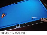 Купить «young man play pro billiard game », фото № 10096745, снято 26 марта 2019 г. (c) PantherMedia / Фотобанк Лори