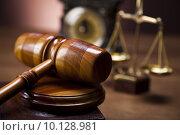 Купить «Law and justice concept, wooden gavel», фото № 10128981, снято 21 августа 2018 г. (c) PantherMedia / Фотобанк Лори