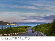 Купить «Дорога вдоль Кольского залива. Мурманск. Россия», фото № 10145713, снято 18 июня 2011 г. (c) Андрей Соловьев / Фотобанк Лори
