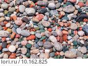 Разноцветная галька на пляже. Родос, Греция. Стоковое фото, фотограф Andrei Nekrassov / Фотобанк Лори