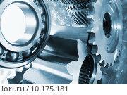 Купить «aerospace titanium gear wheels and bearings», фото № 10175181, снято 23 мая 2018 г. (c) PantherMedia / Фотобанк Лори