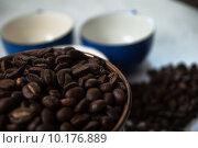 Купить «Coffee Beans Closeup», фото № 10176889, снято 21 мая 2019 г. (c) PantherMedia / Фотобанк Лори