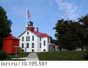 Купить «Grand Traverse Lighthouse horizontal», фото № 10195581, снято 23 мая 2019 г. (c) PantherMedia / Фотобанк Лори