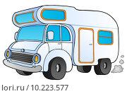 Купить «Cartoon camping van», иллюстрация № 10223577 (c) PantherMedia / Фотобанк Лори