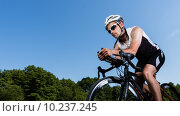 Купить «man sport sports bike bicycle», фото № 10237245, снято 26 марта 2019 г. (c) PantherMedia / Фотобанк Лори