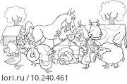 Купить «farm animals for coloring», иллюстрация № 10240461 (c) PantherMedia / Фотобанк Лори