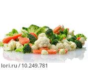 Купить «Frozen vegetables», фото № 10249781, снято 20 апреля 2018 г. (c) PantherMedia / Фотобанк Лори