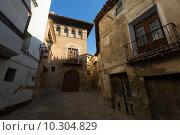 Narrow street at old spanish town. Borja. Стоковое фото, фотограф Яков Филимонов / Фотобанк Лори