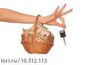 Купить «basket with money», фото № 10312113, снято 23 октября 2019 г. (c) PantherMedia / Фотобанк Лори