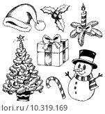 Купить «Christmas stylized drawings 1», иллюстрация № 10319169 (c) PantherMedia / Фотобанк Лори