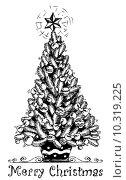 Купить «Christmas tree stylized drawing 1», иллюстрация № 10319225 (c) PantherMedia / Фотобанк Лори