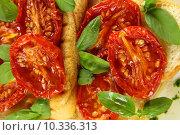 Купить «Roasted Tomato Bruschetta», фото № 10336313, снято 18 октября 2018 г. (c) PantherMedia / Фотобанк Лори