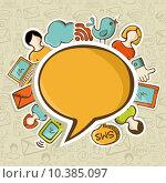Купить «Social media networks communication concept», иллюстрация № 10385097 (c) PantherMedia / Фотобанк Лори